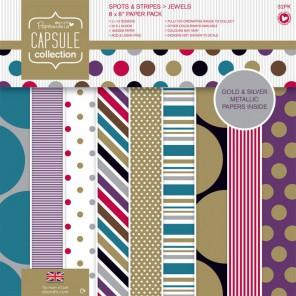 Spots & Stripes Jewels Набор бумаги 20x20 для скрапбукинга, кардмейкинга Docrafts