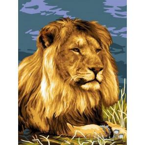 Царь Африки Раскраска картина по номерам на холсте