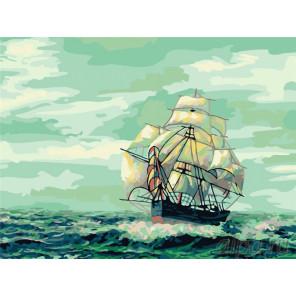 С попутным ветром Раскраска картина по номерам на холсте