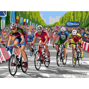 Велопробег Раскраска картина по номерам на холсте