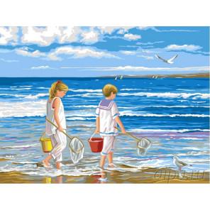 На берегу Раскраска картина по номерам на холсте
