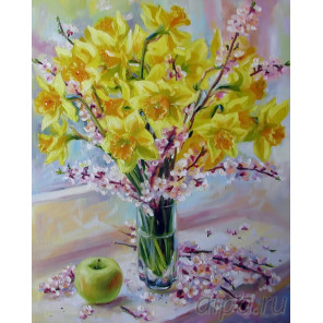 Пришла весна Раскраска картина по номерам на холсте