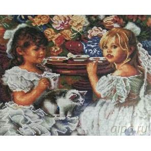 Чаепитие Алмазная мозаика вышивка на подрамнике Painting Diamond
