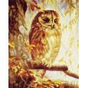 Совенок в лесу Алмазная мозаика вышивка на подрамнике Painting Diamond