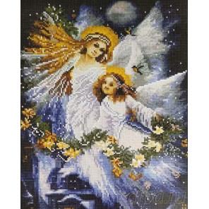 Два ангела Алмазная мозаика вышивка на подрамнике Painting Diamond