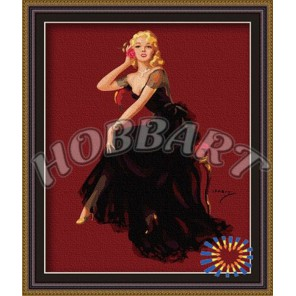 Пин Ап: Блондинка Раскраска по номерам акриловыми красками на холсте Hobbart