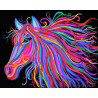Цветная лошадь Раскраска картина по номерам на холсте ZX 22259