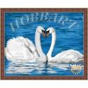 Лебединая верность Раскраска по номерам на холсте Hobbart