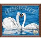 Лебединая верность Раскраска по номерам акриловыми красками на холсте Hobbart