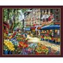 Цветочный рынок Раскраска по номерам акриловыми красками на холсте Hobbart