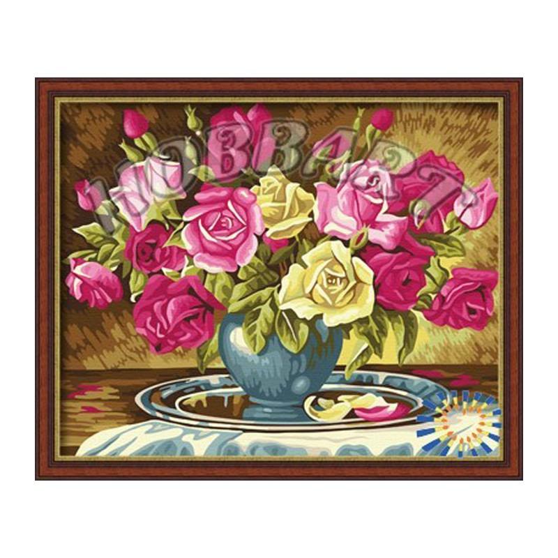 Букет персиковых роз раскраска hobbart, цветы оптом