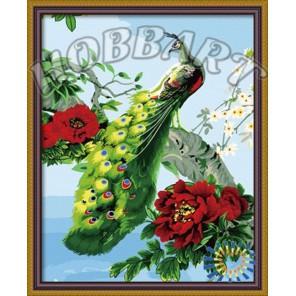 Королевский павлин Раскраска по номерам акриловыми красками на холсте Hobbart