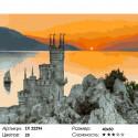 Замок в закате Раскраска картина по номерам на холсте