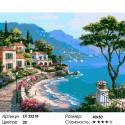 Берег Средиземного моря Раскраска картина по номерам на холсте