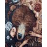 Медведь и девушки Раскраска картина по номерам на холсте ZX 22309