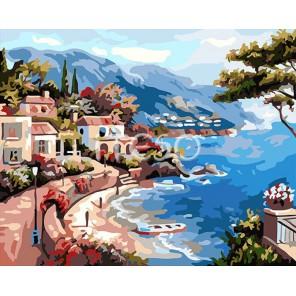 Набережная утром Раскраска (картина) по номерам на холсте Iteso