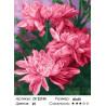 Количество цветов и сложность Цветки малиновых пионов Раскраска картина по номерам на холсте ZX 22155