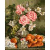 Натюрморт с абрикосами Раскраска картина по номерам на холсте ZX 22127
