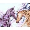 Лошади в ветвях Раскраска картина по номерам на холсте ZX 22198
