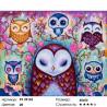 Количество цветов и сложность Шесть сов Раскраска картина по номерам на холсте ZX 22162