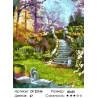 Количество цветов и сложность Лебеди у моста Раскраска картина по номерам на холсте ZX 22166