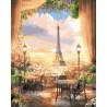 Панорама Парижа Раскраска картина по номерам на холсте ZX 22148