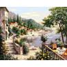 Отдых на лазурном берегу Раскраска картина по номерам на холсте ZX 22125
