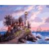 Дом с маяком Раскраска картина по номерам на холсте ZX 22122