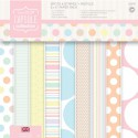 Spots & Stripes Pastels Набор бумаги 15x15 для скрапбукинга, кардмейкинга Docrafts