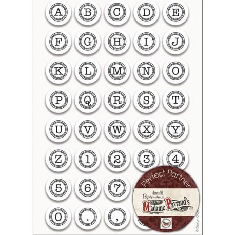 Алфавит английский - Печатная машинка Набор резиновых штампов для скрапбукинга, кардмейкинга Docrafts