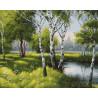 Лесные березки Раскраска картина по номерам на холсте ZX 21575