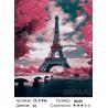 Количество цветов и сложность Париж в розовых тонах Раскраска картина по номерам на холсте ZX 21936