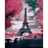 Париж в розовых тонах Раскраска картина по номерам на холсте ZX 21936