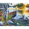 На озере Раскраска картина по номерам на холсте ZX 21702