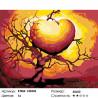 Количество цветов и сложность Дерево любви Раскраска по номерам на холсте Живопись по номерам KTMK-143543