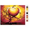 раскладка Дерево любви Раскраска по номерам на холсте Живопись по номерам