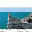 Крымский замок Раскраска по номерам на холсте Живопись по номерам