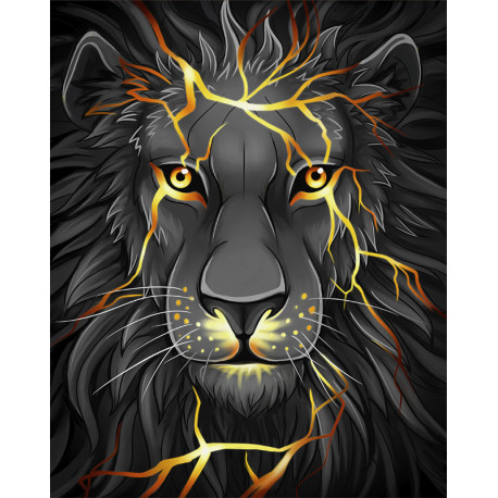 Лавовый лев Алмазная вышивка мозаика АЖ-1745