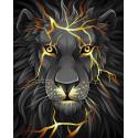 Лавовый лев Алмазная вышивка мозаика