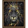 Пример оформления в рамку Лавовый лев Алмазная вышивка мозаика АЖ-1745