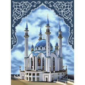 Пример оформления в рамку Мечеть Кул-Шариф Алмазная вышивка мозаика АЖ-1741