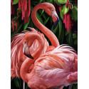 Пара фламинго Алмазная вышивка мозаика АЖ-1739