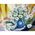 Ромашковый венок Алмазная мозаика вышивка Паутинка М-269