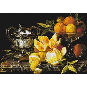 Натюрморт с апельсинами Алмазная мозаика вышивка Паутинка М-273