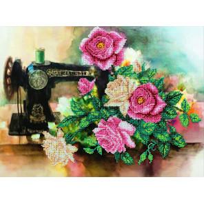 Розы для рукодельницы Набор для частичной вышивки бисером Паутинка Б-1286