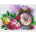 Розовый час Набор для частичной вышивки бисером Паутинка