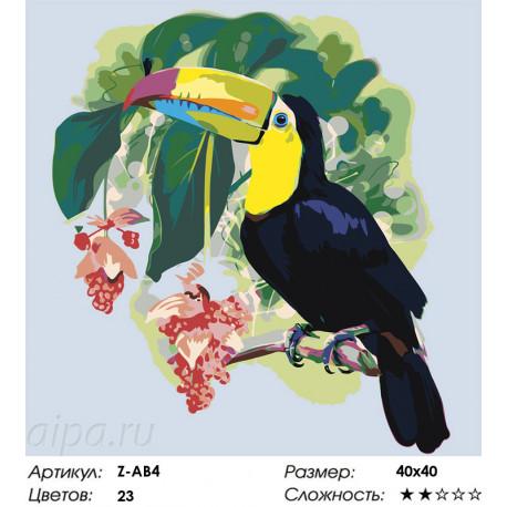 Сложность и количество цветов В жарких тропиках Раскраска по номерам на холсте Живопись по номерам Z-AB4