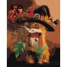 Котик в шляпе Раскраска по номерам на холсте Живопись по номерам Z-AB51