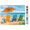 Раскладка На пляже Раскраска по номерам на холсте Живопись по номерам KTMK-85143