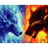 Жара и холод Раскраска картина по номерам на холсте ZX 22100